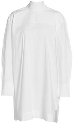 Ganni Cotton Poplin Mini Dress