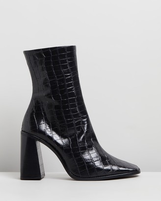 Siren Women's Black Heeled Boots - Belmar - Size One Size, 35 at The Iconic