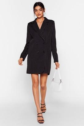 Nasty Gal Womens Stripe on Time Mini Blazer Dress - Black - 10