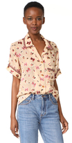 Anna Sui Bouquet & Bows Burnout Chiffon Shirt