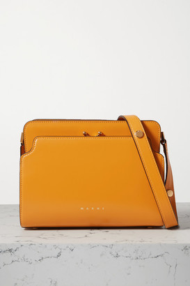 Marni Trunk Reverse Small Leather Shoulder Bag - Mustard