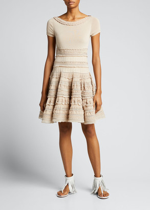Alaia Edition 2007 Ruffle Lace Fit-&-Flare Dress
