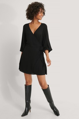 NA-KD Tie Overlap Mini Dress