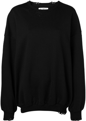 Almaz Oversized Distressed Sweatshirt