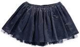 Bonton Mesh Lined Lurex Midi Skirt