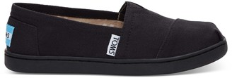 Black Canvas TOMS Youth Classics 2.0