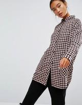 Monki Large Pocket Check Shirt