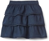 Gap Denim tier flippy skirt