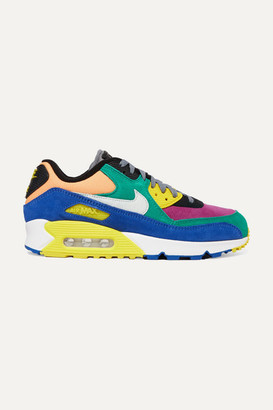 Nike Air Max 90 Qs Viotech 2.0 Suede, Canvas And Mesh Sneakers - Green