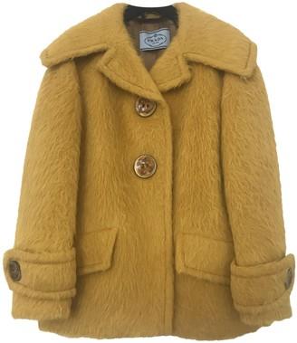 Prada Yellow Wool Coats
