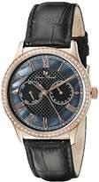 Lucien Piccard Women's LP-10334-RG-01 Brela Analog Display Japanese Quartz Black Watch
