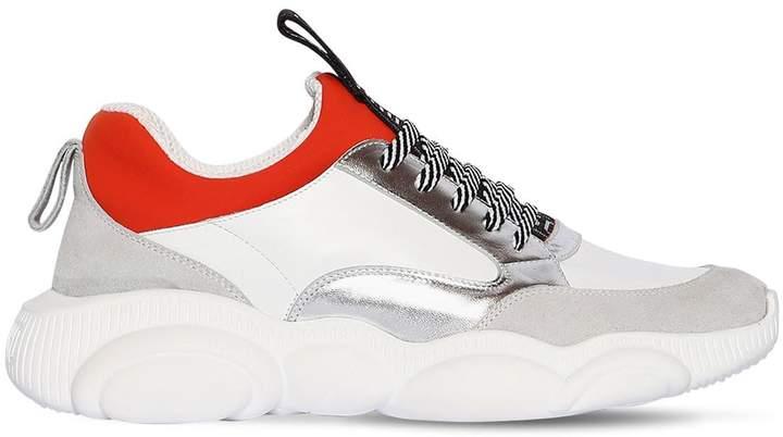 Moschino Leather & Neoprene Sneakers