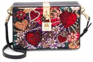 Dolce & Gabbana Dolce Embellished Leather Box Clutch