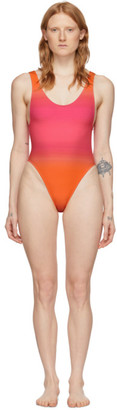Jacquemus Pink and Orange Le Maillot Camerio One-Piece Swimsuit