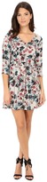 BB Dakota Calico Silver Bouquet Printed Sateen Dress