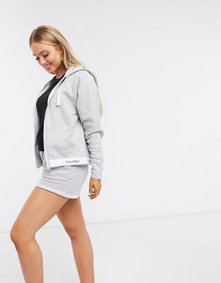Calvin Klein Modern Cotton lounge hoodie in grey