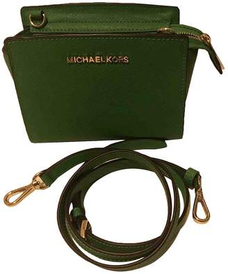 Michael Kors Selma Green Leather Clutch bags