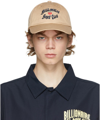 Billionaire Boys Club Tan Logo Curved Visor Cap
