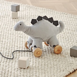 The White Company Pull-Along Dinky Dinosaur Toy, Grey, One Size