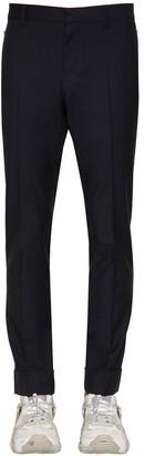 Valentino 17cm Wool & Mohair Pants