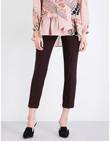 Etro Straight cropped mid-rise wool trousers