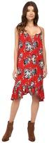 Brigitte Bailey Mariposa Floral Print Tie Front Dress