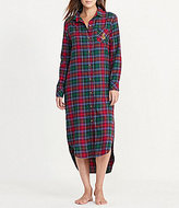 Lauren Ralph Lauren Plaid Twill Maxi Sleepshirt