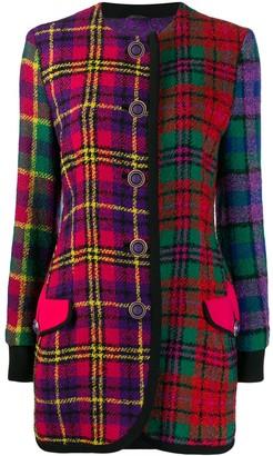 Versace Pre-Owned 90's Mixed Tartan Jacket