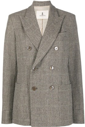 Barena Glen check double-breasted jacket