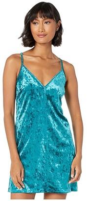 BCBGeneration Velvet Slip Dress REF6229542 (Teal) Women's Dress