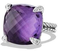 David Yurman Châtelaine Ring With Amethyst And Diamonds, 20Mm