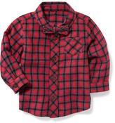 Old Navy Plaid Bow-Tie Shirt for Baby