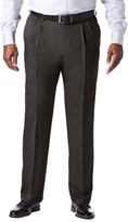 Haggar Big & Tall Cool 18 Pro Heather - Classic Fit, Pleat Front, Hidden Expandable Waistband