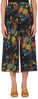 Raquel Allegra Women's Floral Silk Wide-Leg Pants