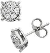 1/4 Carat T.W. Diamond Sterling Silver Cluster Stud Earrings