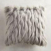 Pier 1 Imports Gray Faux Fur Eyelash Pillow