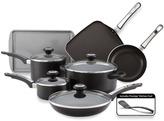 Farberware High Performance Aluminum Nonstick 12-Piece Cookware Set - Black