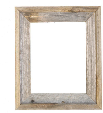 "Rustic Decor Llc Tulsa Signature Reclaimed Rustic Barn Wood Open Frame, 11""x14"""