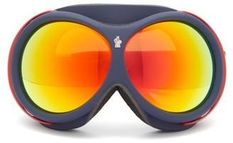 Moncler Logo-jacquard Strap Ski Goggles - Yellow Multi