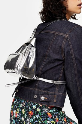 Topshop IDOL SOPHIA Silver Mini Backpack