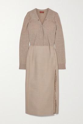 Altuzarra Arlene Melange Wool-blend Midi Dress - Beige