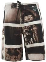 MEbox Men's Quick Dry Polyester Print Swim Boardshorts in M