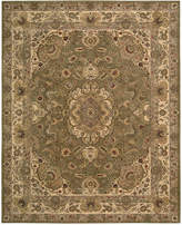 "Nourison Wool & Silk 2000 2028 Olive 9'9"" x 13'9"" Area Rug"
