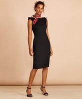Brooks Brothers Linen-Blend Twill Sheath Dress