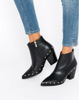 Daisy Street Stud Heeled Ankle Boots