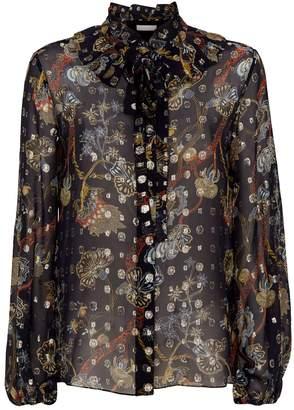 Chloé Metallic Sheer Silk Shirt