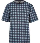 River Island Mens Blue check short sleeve t-shirt