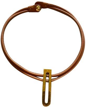 Delvaux Camel Leather Necklaces