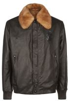 Billionaire Fur Collar Leather Jacket