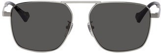 Gucci Silver Square Aviator Sunglasses